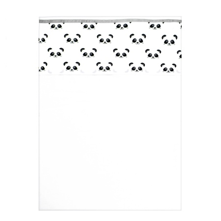 Fabs World Laken Panda Grey Dreams<br> 100 x 150 cm