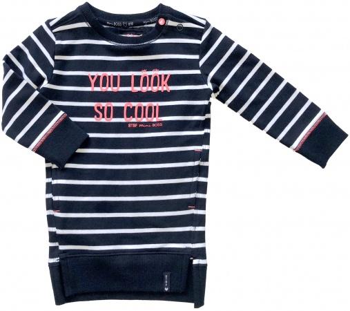 Born To Be Famous Jurk Stripe Navy