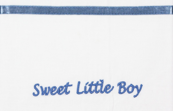 Briljant Laken Sweet Little Boy Blauw <br> 75 x 100 cm