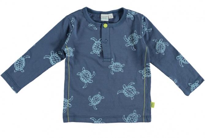 Babylook T-Shirt Turtle Faded Denim