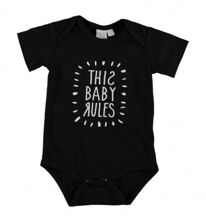 Babylook Romper Baby Rules Black