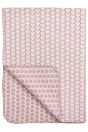 Meyco Deken Knitted Heart<br> 75 x 100 cm