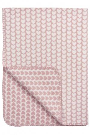 Meyco Deken Knitted Heart<br> 120 x 150 cm