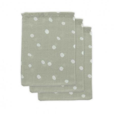 Little Lemonade Washand Dots Grey (3pack)