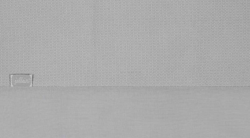 Jollein Laken Tiny Waffle Soft Grey 120 x 150 cm