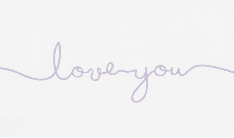 Jollein Laken Love You Soft Lilac 120 x 150 cm