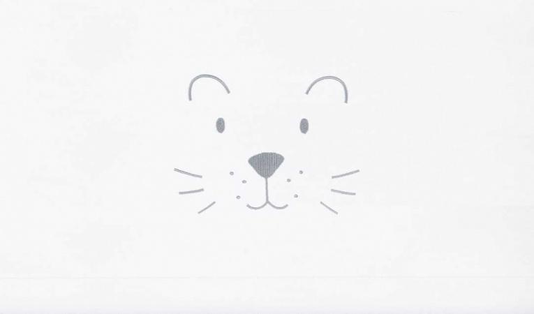 Jollein Laken Little Lion Soft Grey 75 x 100 cm