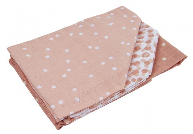 Briljant Hydrofiele Luiers Spots Grey Pink (3 stuks)