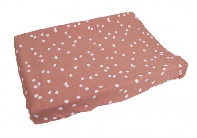 Waskussenhoes Spots Grey Pink