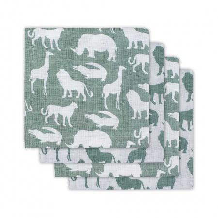 Hydrofiele Luiers (4 stuks) <br> Safari Forest Green