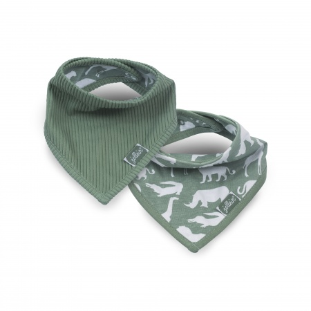 Jollein Bandana Safari Forest Green (2 Stuks)