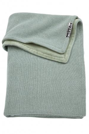 Meyco Deken Knit Basic DeLuxe Stone Green<br> 75 x 100 cm