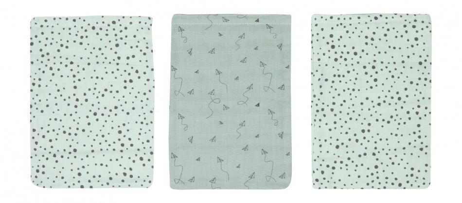 Bébé-Jou Hydrofiele Washandjes Fabulous Paper Planes (3 stuks)