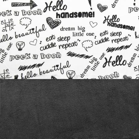 Little Lemonade Laken Quotes Black/White 120 x 150 cm