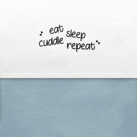 Little Lemonade Laken Eat Sleep Cuddle Repeat 75 x 100 cm