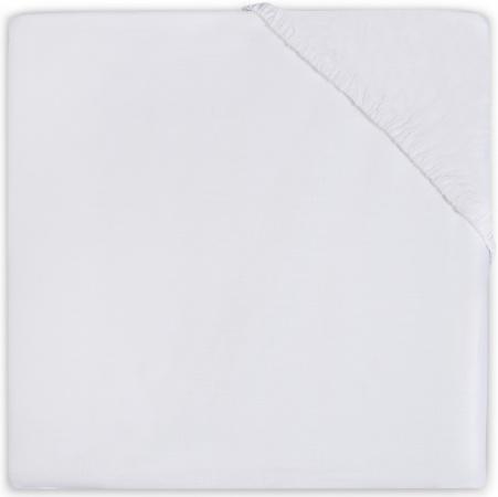 Little Lemonade Hoeslaken Boxmatras Jersey White 75 x 95 cm