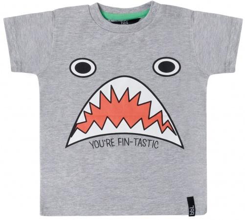 Beebielove T-Shirt Korte Mouw Shark Grey