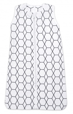 Briljant Slaapzak Zomer Grid Wit/Zwart 70cm