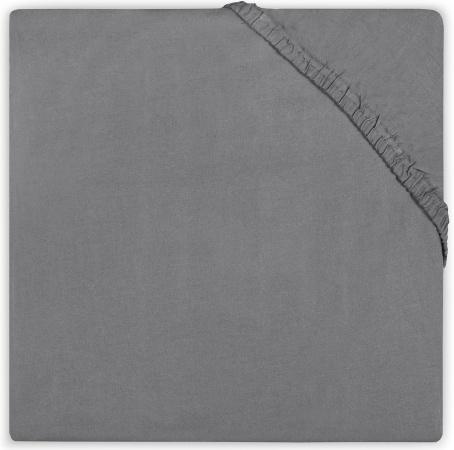 Little Lemonade Hoeslaken Katoen Dark Grey 70 x 140 cm