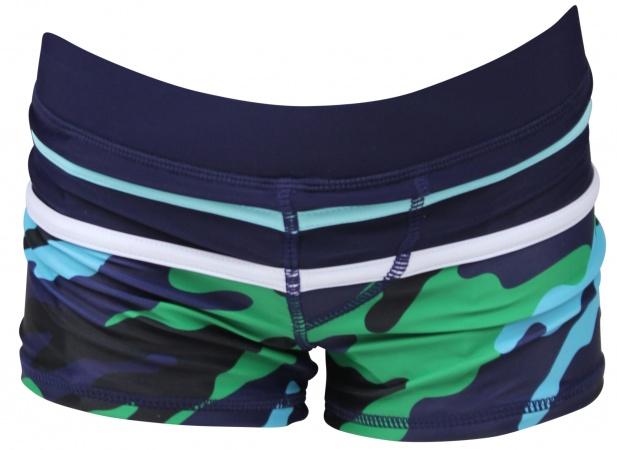 Zwembroek Maat 86.Lentiggini Zwembroek Navy Turquoise Zwemkleding Baby Dump