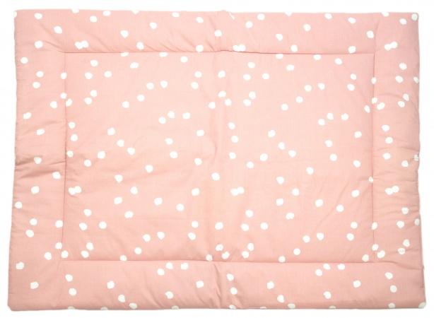 Briljant Boxkleed Spots Grey Pink<br> 80 x 100