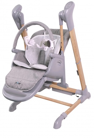 Bo Jungle B-Swinging High Chair Wood Grey