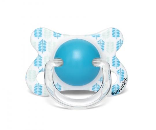 Suavinex Fopspeen Fusion Leaves Blue -2/4mnd