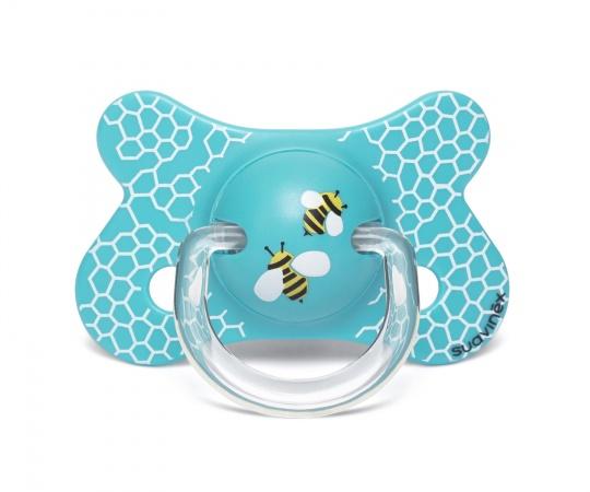 Suavinex Fopspeen Fusion Bee Blue 4-18mnd