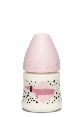 Suavinex Fles Fusion Dog Pink 150ml