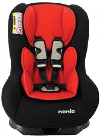 Nania Eco Maxim SP Shadow Black Inclusief Custo Insert Red