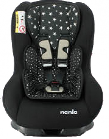 Nania Eco Maxim SP Shadow Black Inclusief Custo Insert Star Black