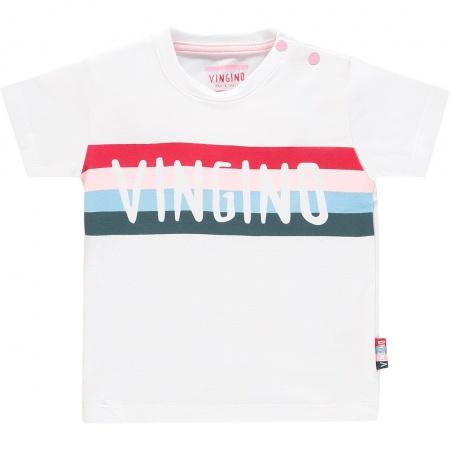 064745d9c39457 Vingino T-Shirt Hawi Korte Mouw Real White | Vingino T-Shirt | Baby-Dump