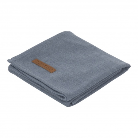 Little Dutch Swaddle Pure Blue <br> 120 x 120