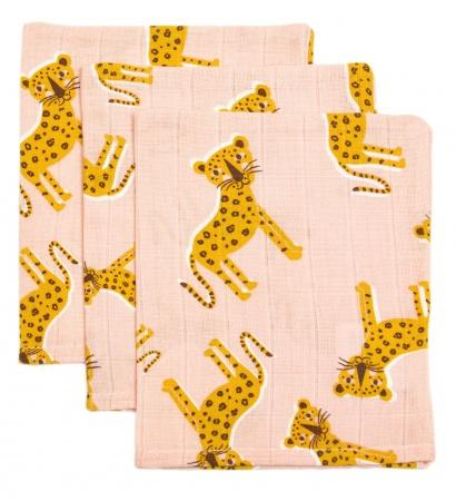 Briljant Hydrofiele Washandjes Cute Panther (3 stuks)