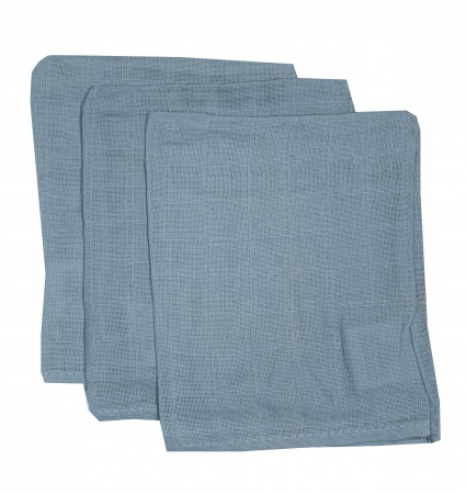 Briljant Hydrofiele Washandjes Dusty Blue (3 stuks)