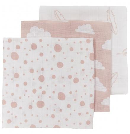Meyco Hydrofiele Monddoekjes 3pack<br> Print Roze