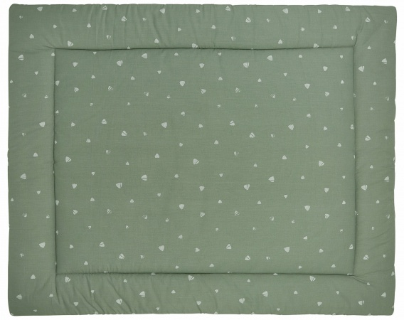 Meyco Boxkleed Sweet Triangle Forest Green<br> 77 x 97 cm