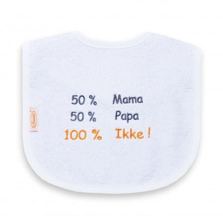 Slabber 50% Mama 50% Papa 100% Ikke