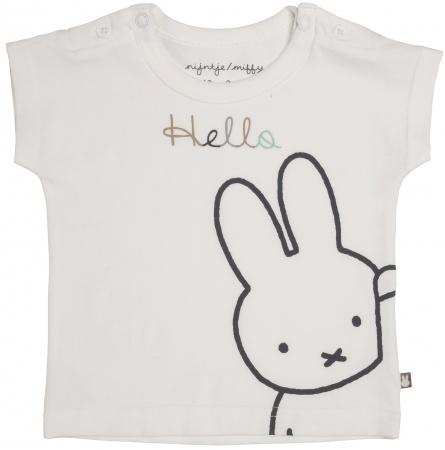 Nijntje/Miffy T-Shirt Korte Mouw Hello Offwhite