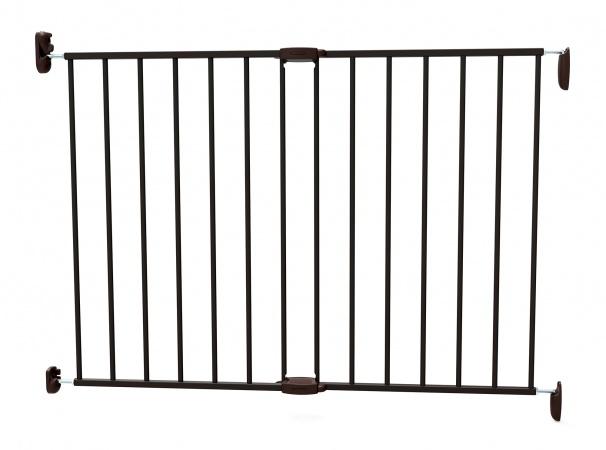Noma Extending Metal Gate Black (62 cm - 102 cm)