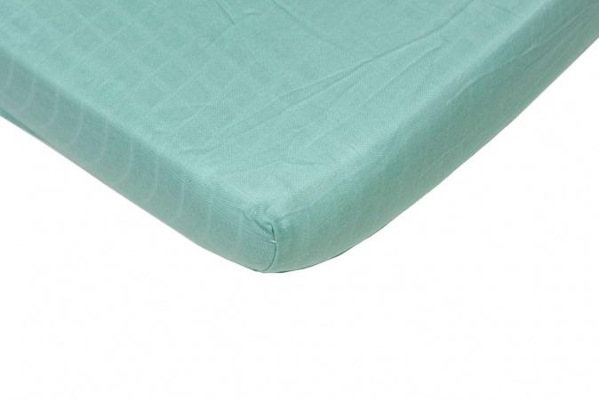 Hoeslaken Hydrofiel Mint <br> 60 x 120 cm.