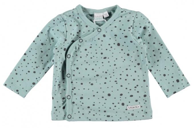 Babylook T-Shirt Overslag Blue Surf