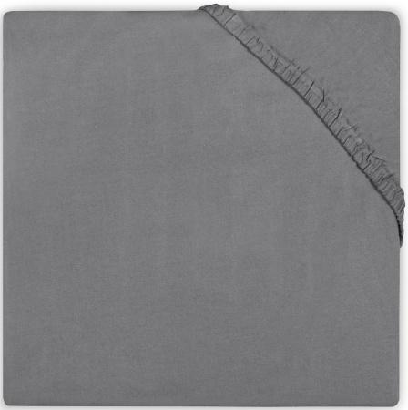 BD Collection Hoeslaken Katoen Dark Grey   70 x 140 cm