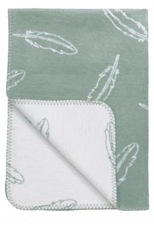 Meyco Deken Feathers Stonegreen<br> 75 x 100 cm