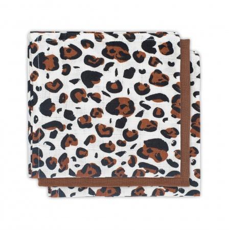 Jollein Hydrofiele Monddoekjes Leopard Natural 3pck