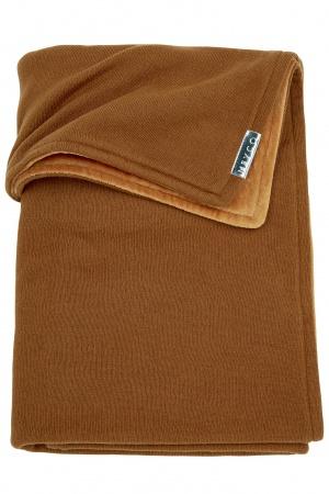 Meyco Deken Knit Basic Camel Met Velvet<br> 75 x 100 cm