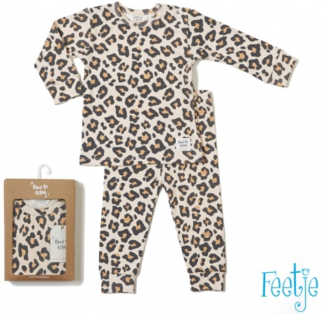 Feetje Pyjama Leopard Lux Perzik