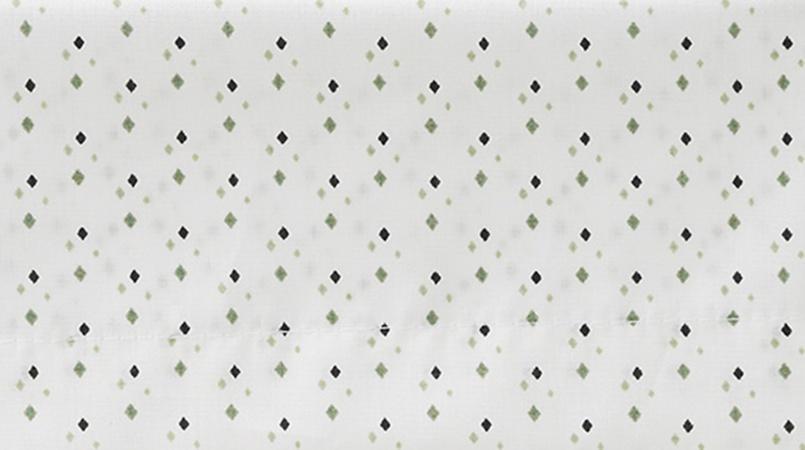 Cottonbaby Wieglaken Wybert Wit/Groen <br/ > 75 x 90 cm