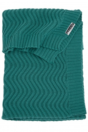 Meyco Deken Waves Emerald Green <br> 100 x 150 cm
