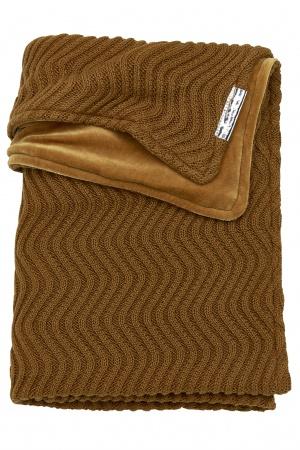 Meyco Deken Waves Velvet Camel <br> 75 x 100 cm
